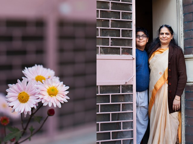 Lalitha and son, Aditya