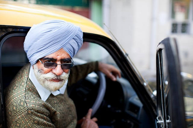 Mr Amar Singh, taxi-driver for 40 years