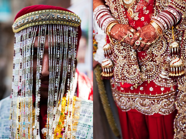 a wedding where the man wears the veil and she wears everything else