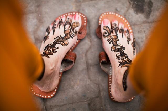 henna drying