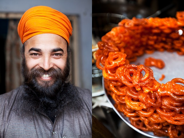 his turban was the colour of Jalebi