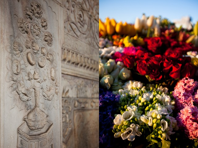 280 year old flowers at Tophane Fountain vs day old