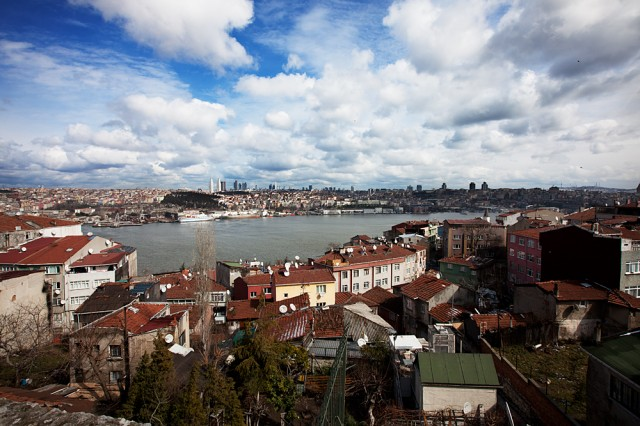 down the hill to the Golden Horn