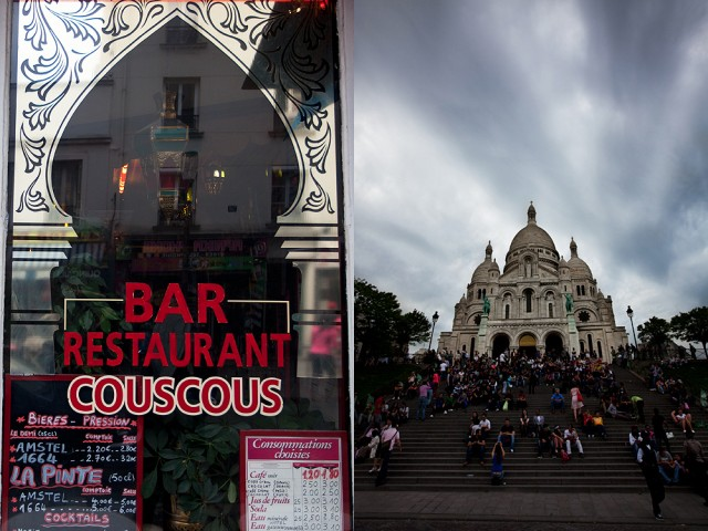 Chateau Rouge is right next door to the Sacre Coeur
