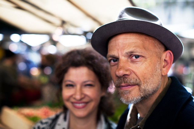 Soraya and Stephen at the organic market