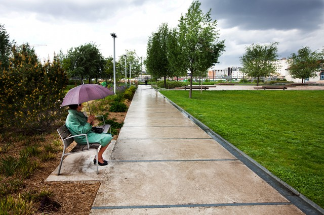 the new park - Georgette in the rain