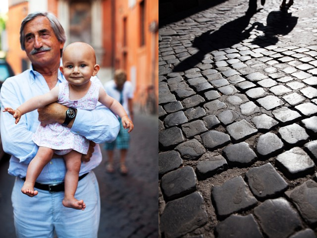 Carolina and her grandfather, now and in a few years time