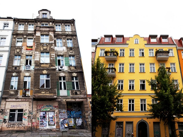 before and after gentrification - around Rigaer Strasse