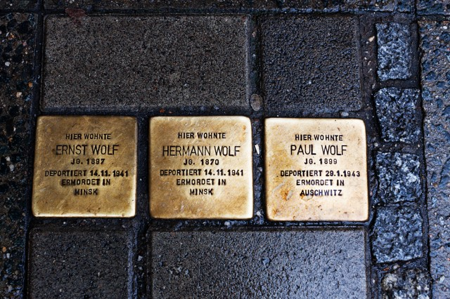 stolpersteine -The Wolf family