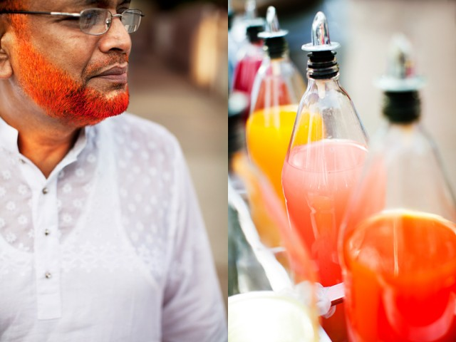 beards the colour of snow cone syrup