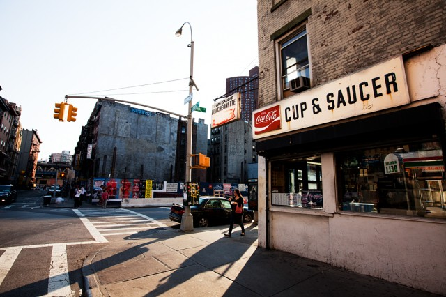 the Cup & Saucer Luncheonette is all but washed up