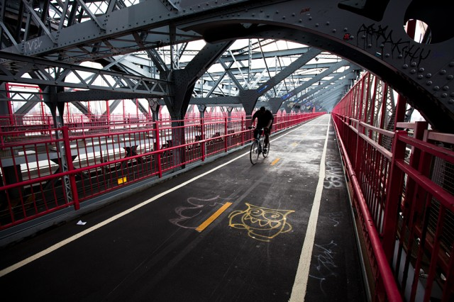 the writing's on the Williamsburg Bridge