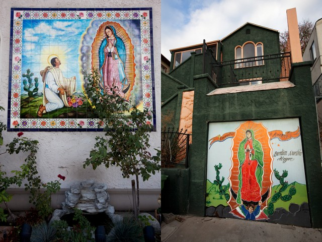 Our Lady of Guadalupe - she's everywhere, from churches to garage doors