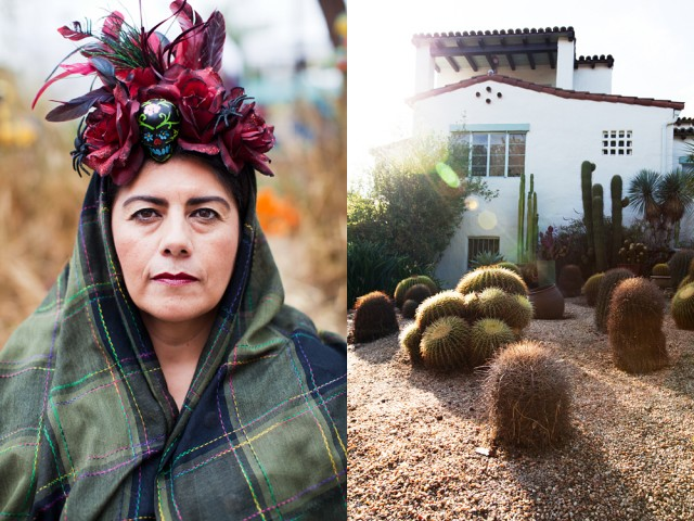Then a woman who looked scarily like Frida Kahlo came out of the house but when I looked back she wasn't there
