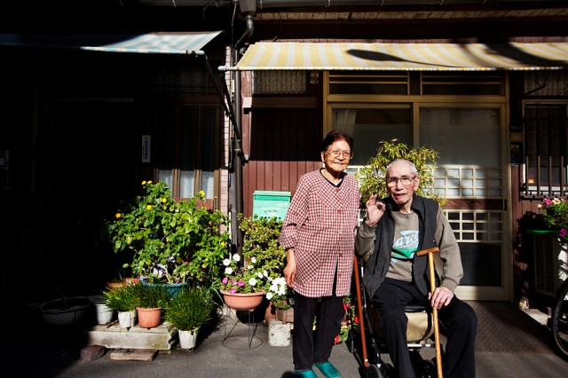 home for 80 of her 82 years - Fumiko with husband Shigeo