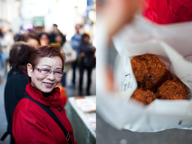 worth the wait - Yuriko with her menchi katsu