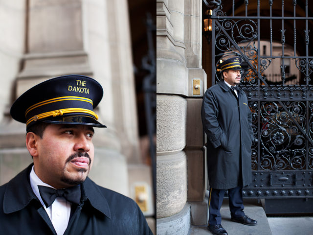 """I've been the Dakota's doorman for 27 years, ever since I left school. I love it cos I get to meet people from all over the world"""