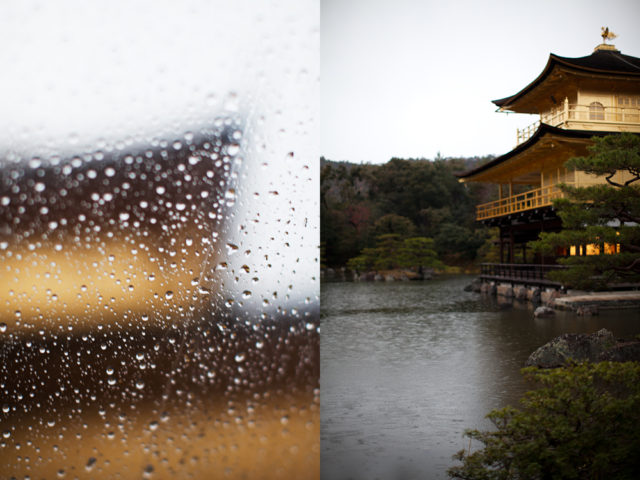 Kinkaku-ji in the rain