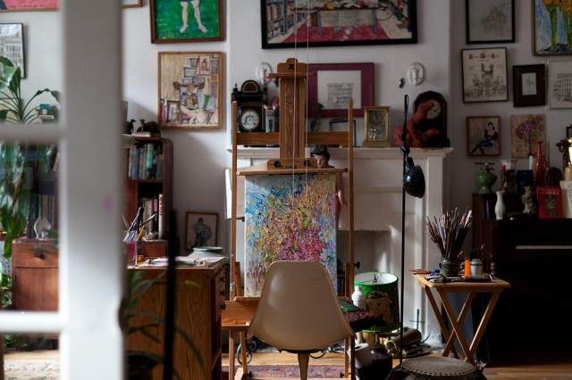 """Miles used to sit there for at least an hour a day and paint"""