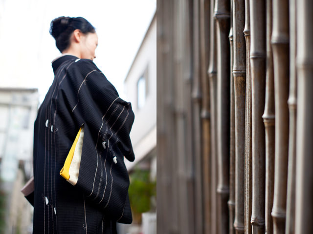 straight lines - Emiko in her mother's kimono