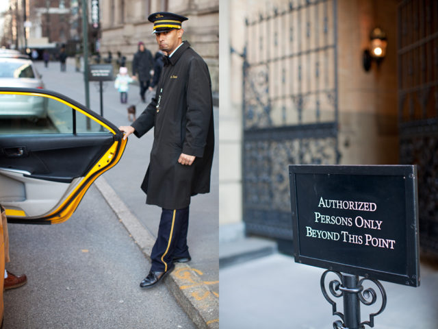 the Dakota doormen's jobs includes opening doors and keeping John Lennon fans at bay