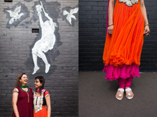 Kalpita and Priyanka, in West Footscray for an Indian friend's child's birthday party