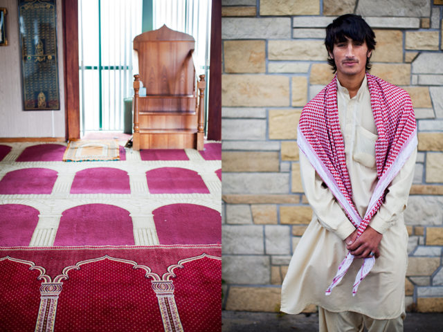 a far cry from the mosques of his own country - Wasim, 18, from Afghanistan