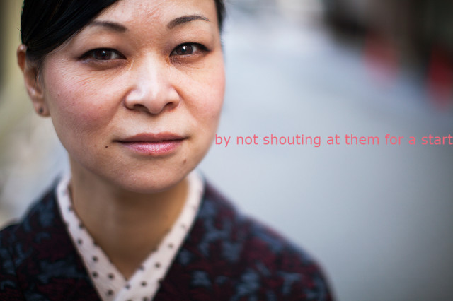 not shout